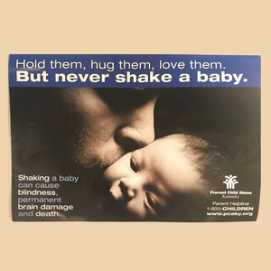 Never Shake a Baby (Male Image)