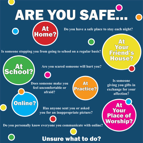 Are You Safe Poster (Navy)