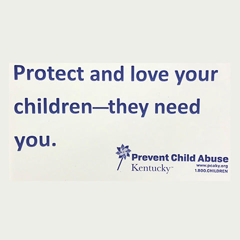 Protect and love your children—they need you. Magnets (Stack of 25)