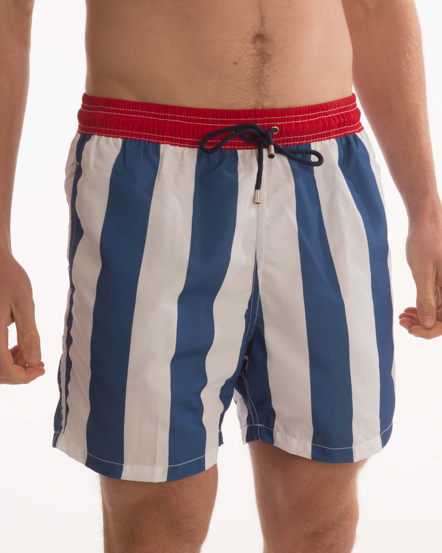 Vertical Stripe Board Shorts - Bistro StTropez
