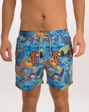 Big Turtle Board Shorts - Bistro StTropez