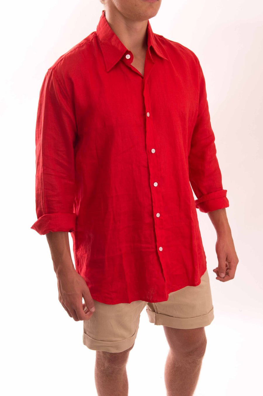 Linen Shirt Long Sleeve - Bistro StTropez