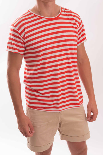 Round Neck Medium Stripe T-Shirt - Bistro StTropez