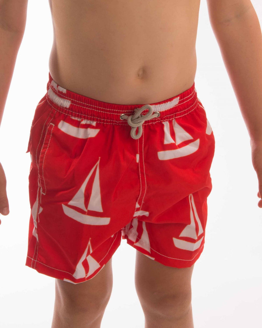 Sailboat Board Short Boys - Bistro StTropez