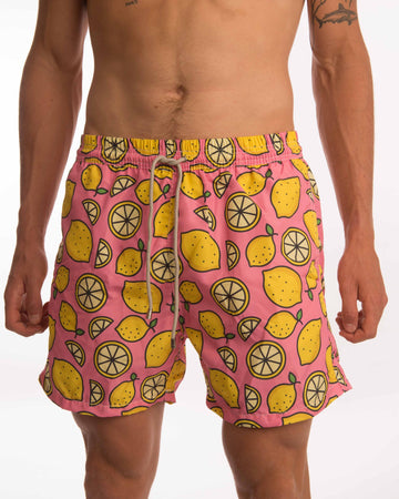 Lemon Slices Board Shorts Mens Board Shorts, Mens Swim Shorts, Board Shorts