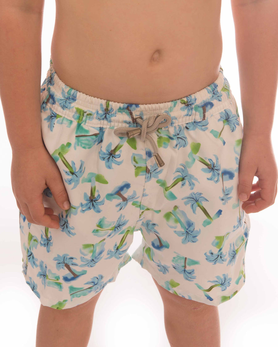 Palm Tree Board Short Boys - Bistro StTropez