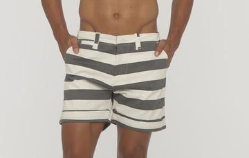 Keats Big Stripe Short - Bistro StTropez