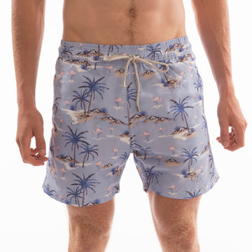 Palm Tree Beach Board Shorts - Bistro StTropez