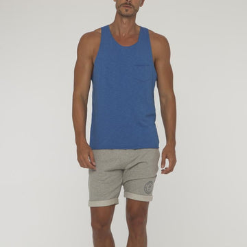 Plain Overlock Singlet With Pocket - Bistro StTropez