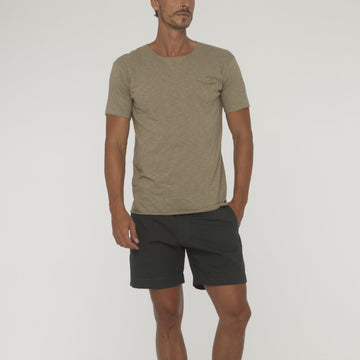 Plain Overlock Tee With Pocket - Bistro StTropez