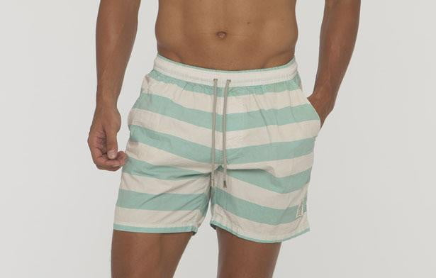 Saint Bistro Big Stripe Cotton Beach Short - Bistro StTropez