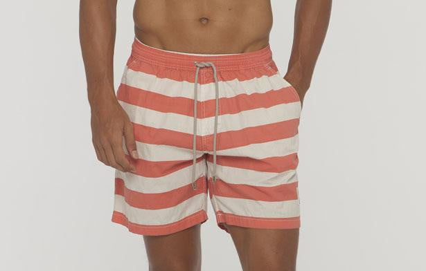 Saint Bistro Big Stripe Cotton Beach Short