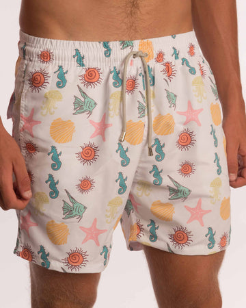 Starfish Mens Board Shorts - Bistro StTropez