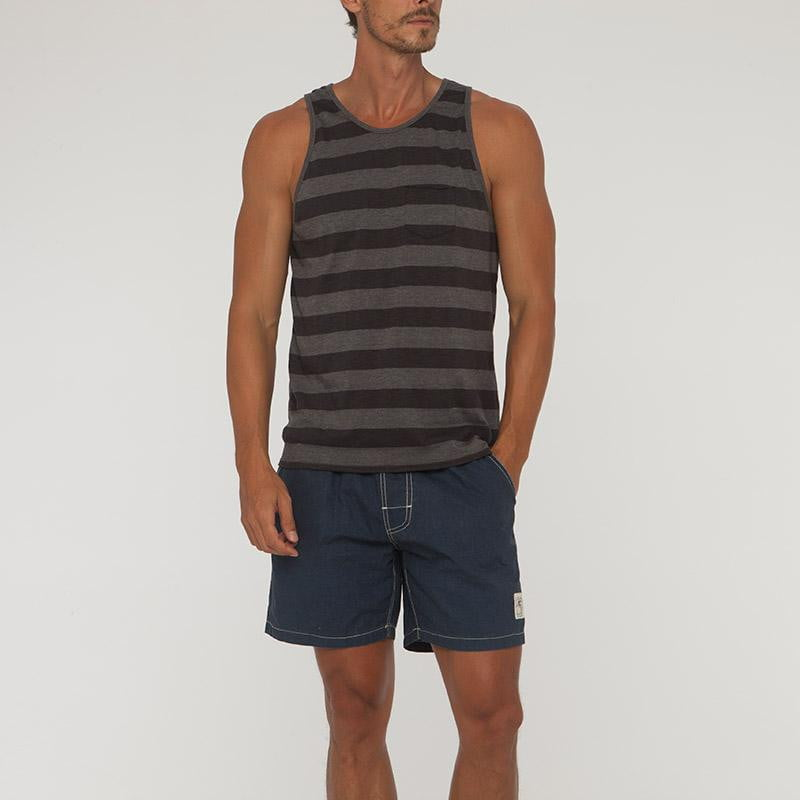 Big Stripe Saint Singlet With Pocket - Bistro StTropez