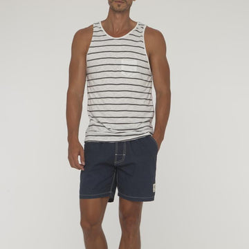 Small Stripe Saint Singlet With Pocket - Bistro StTropez