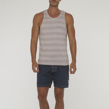 Big Stripe Saint Singlet With Pocket