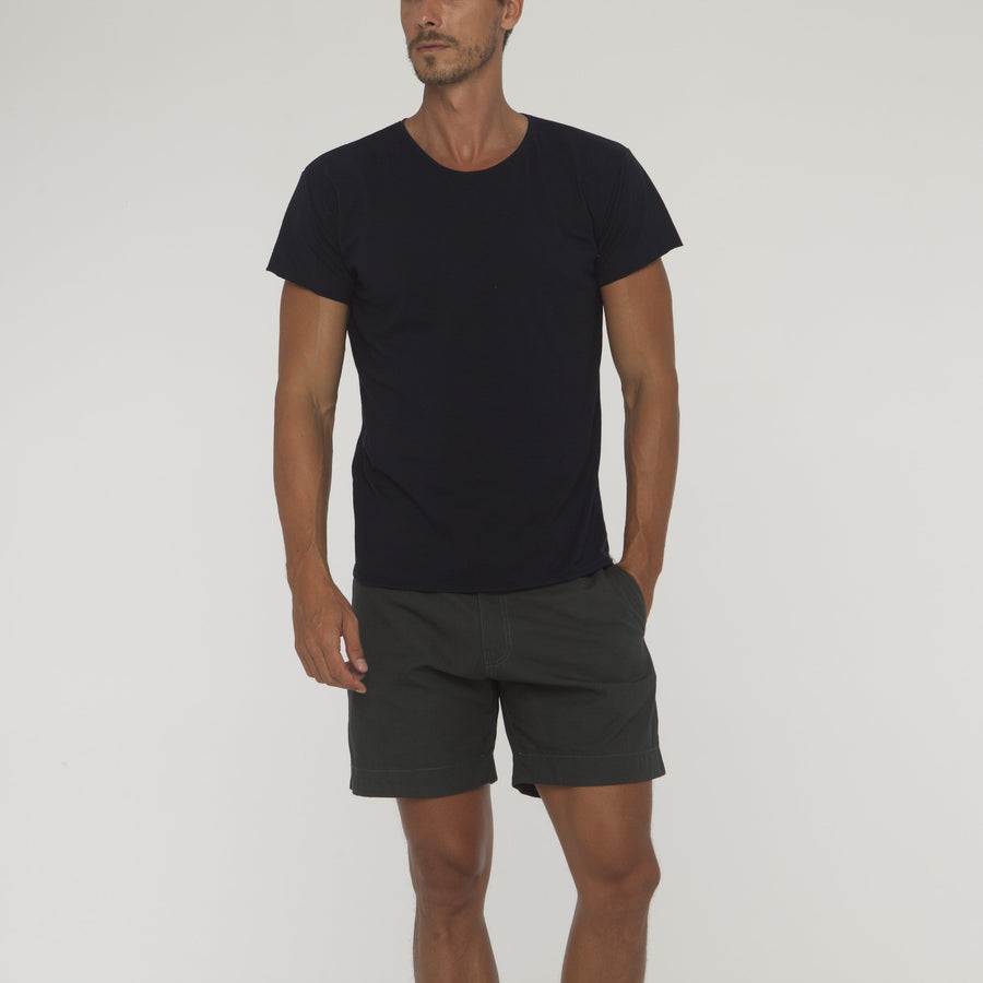 Plain Round Neck Tee No Pocket - Bistro StTropez