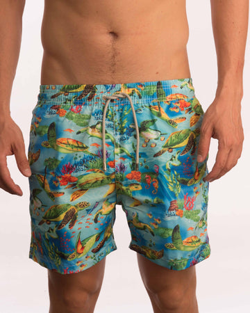 Turtle Sea Life Board Shorts - Bistro StTropez