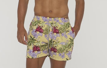 Flamingo Pattern Boardshort