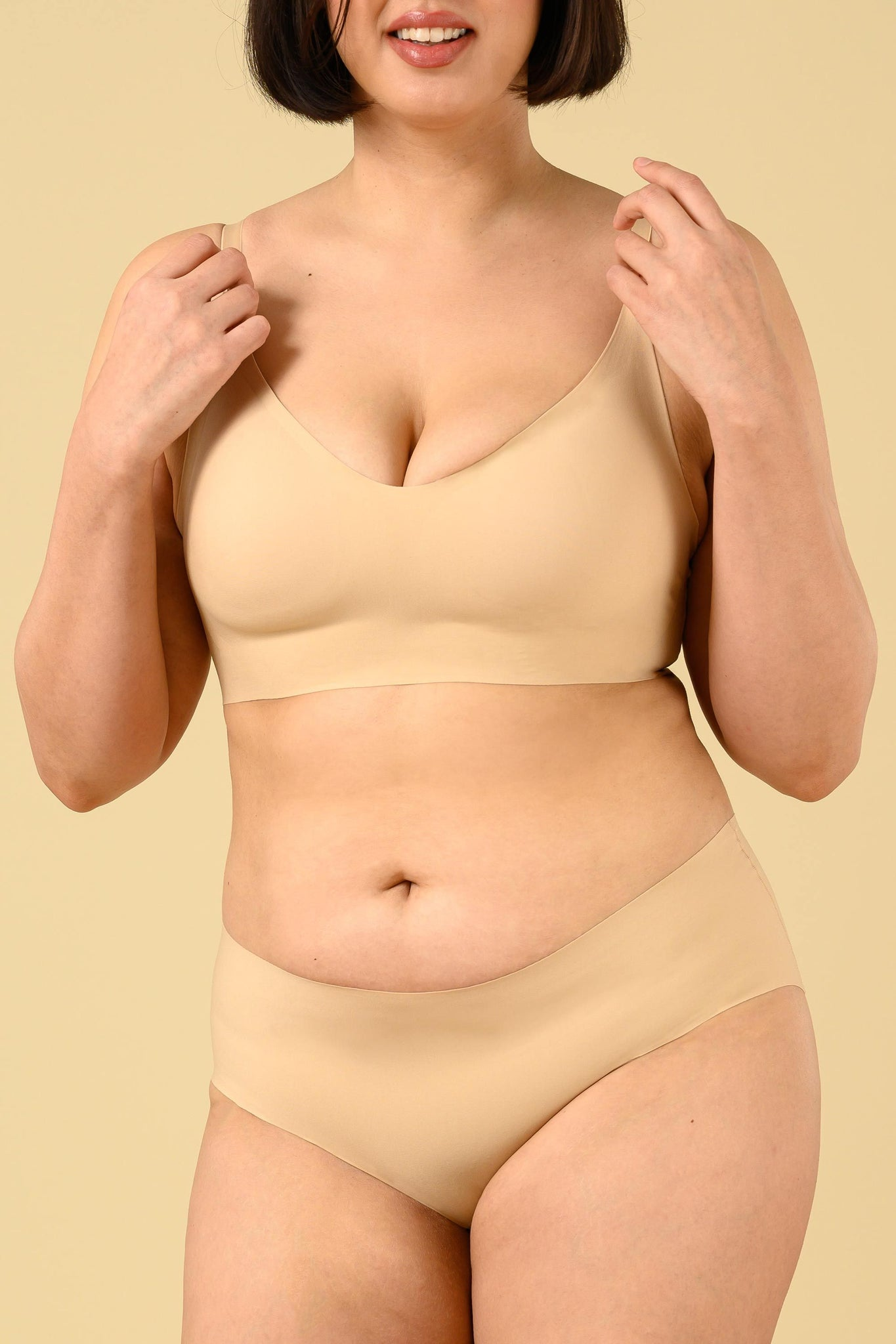 Okko Seamless Brief in Creme