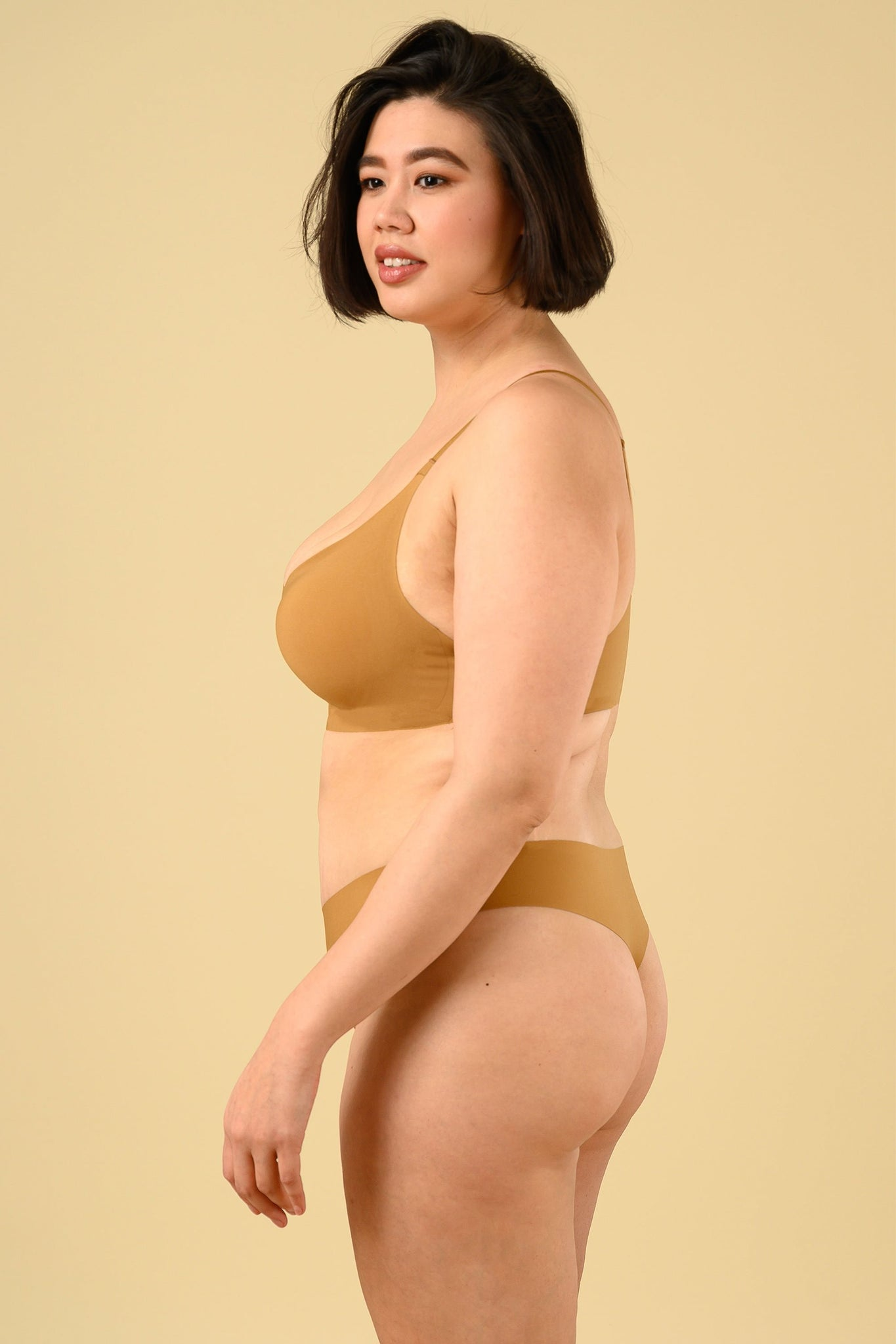 Okko Seamless Thong in Honey