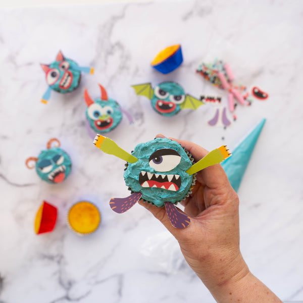 Bake your own monster cupcakes