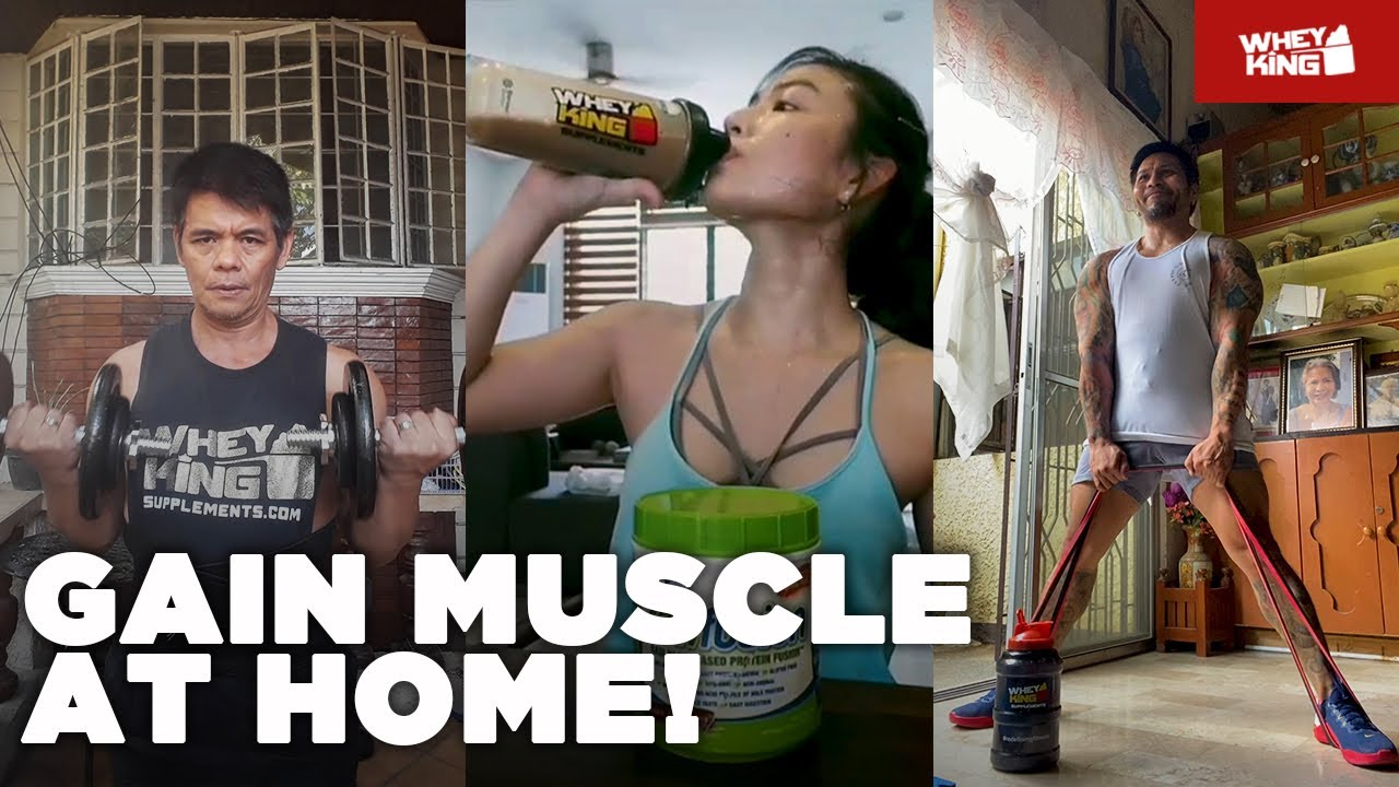 5 TIPS TO GAIN MUSCLE AT HOME! | Fitness Tips