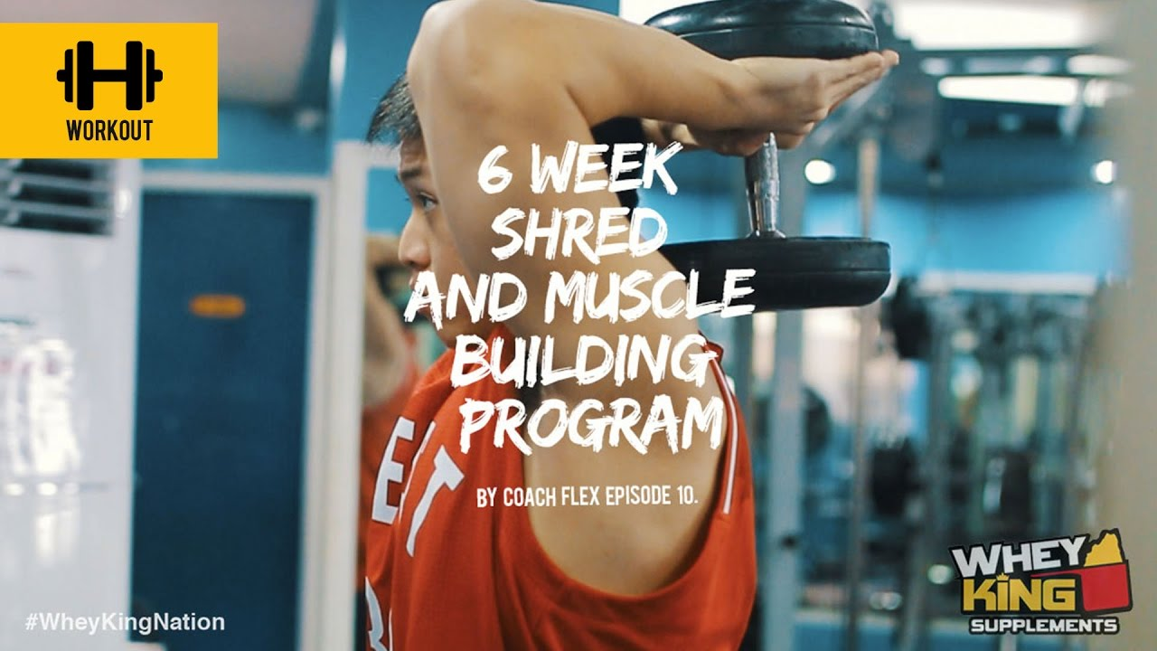 6 week Shred & Muscle Building Program | Coach Flex | Day.10 | Whey King Supplements Philippines