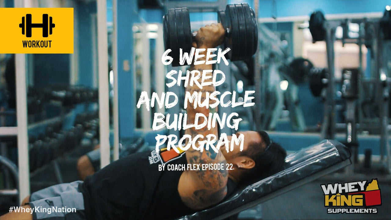 6 week Shred & Muscle Building Program | Coach Flex | Day.22 | Whey King Supplements Philippines