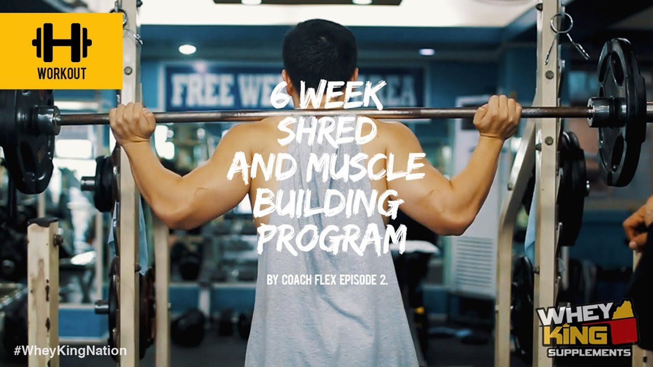 6 week Shred & Muscle Building Program | Coach Flex | Day.2 | Whey King Supplements Philippines