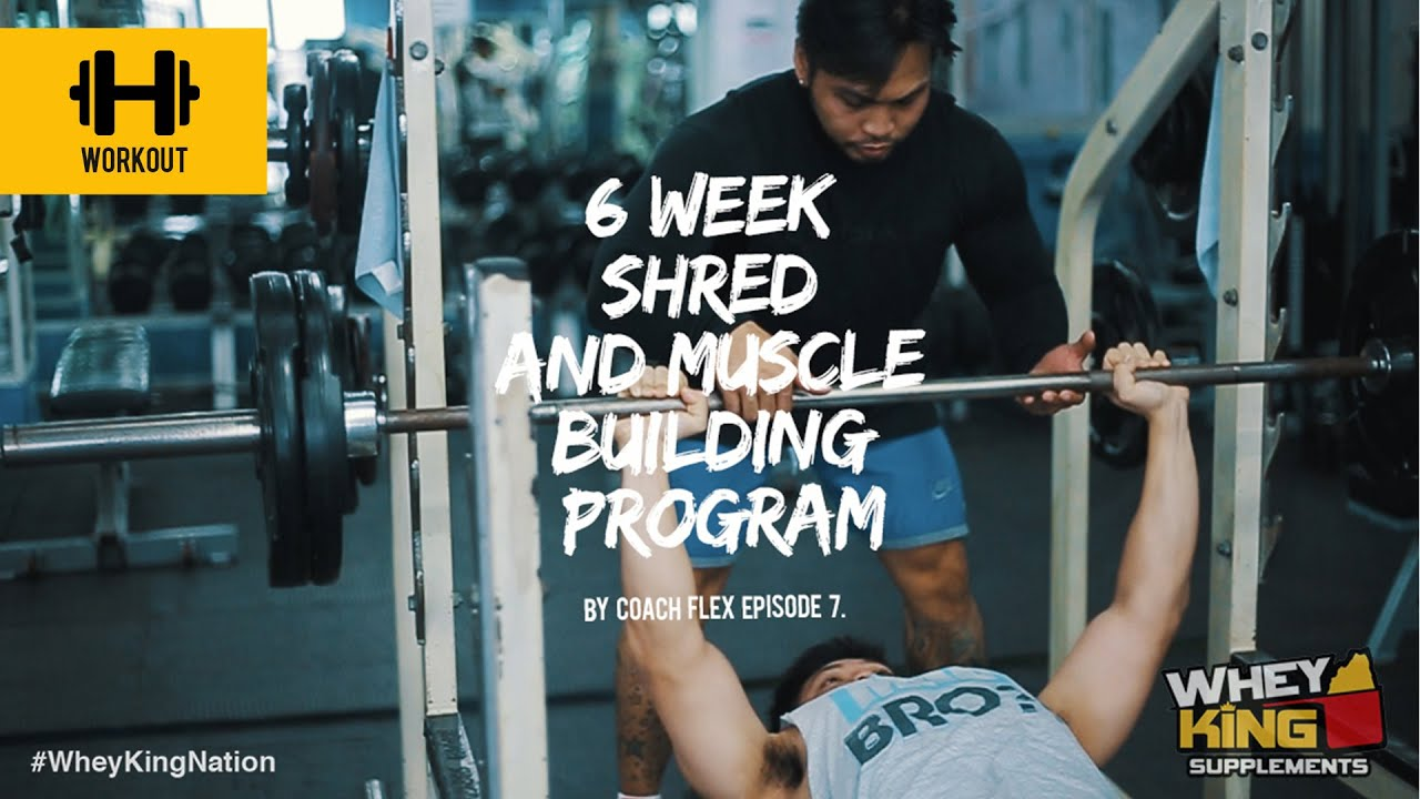 6 week Shred & Muscle Building Program | Coach Flex | Day.7 | Whey King Supplements Philippines