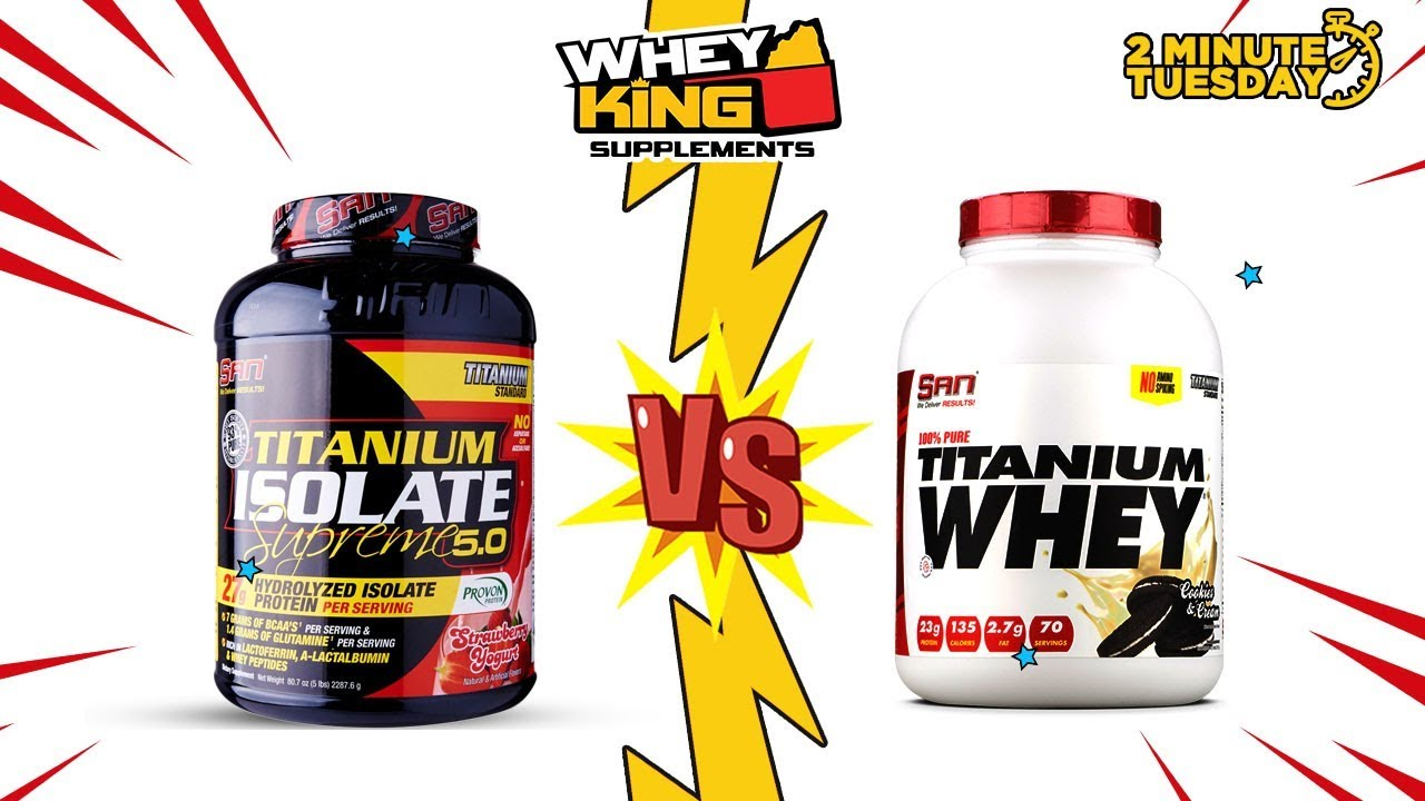 Two-Minute Tuesdays - Difference between SAN TITANIUM WHEY and TITANIUM ISOLATE