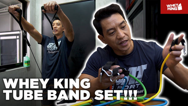 Whey King TUBE BANDS SET! HOME Training