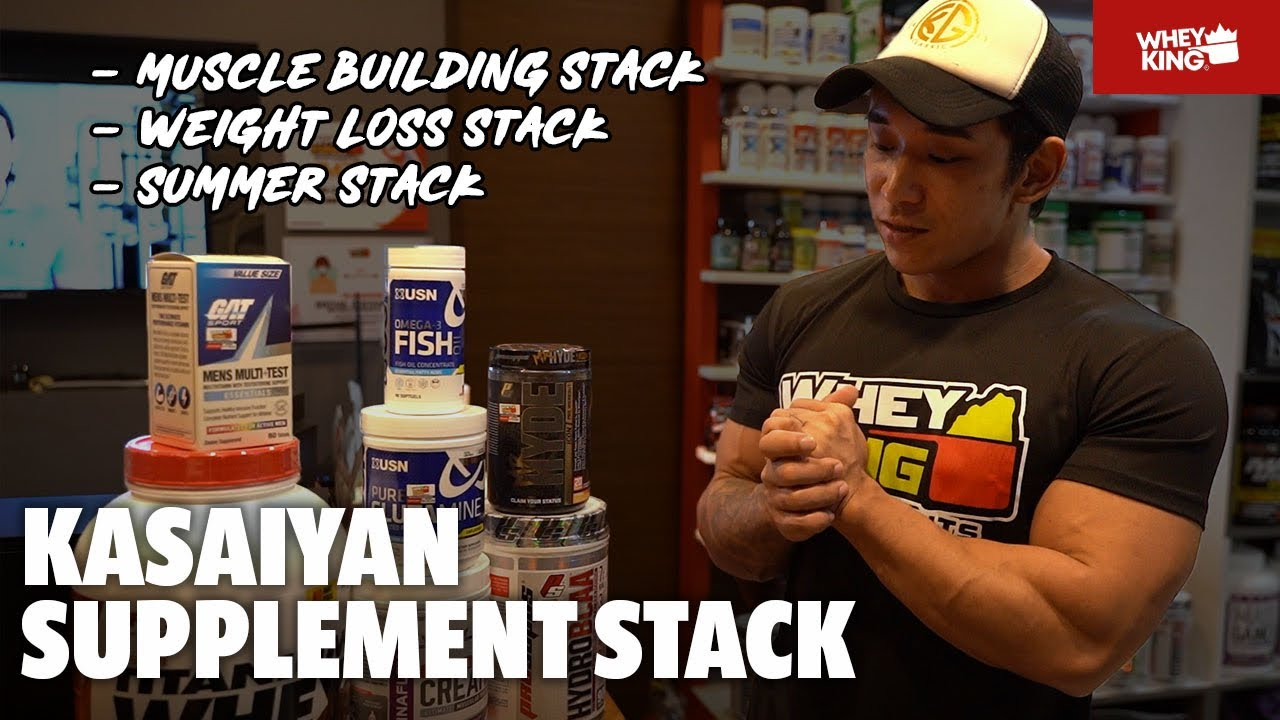 KAISAIYAN KEN HANAOKA SUPPLEMENTS STACK! FOR EVERY FITNESS GOAL.