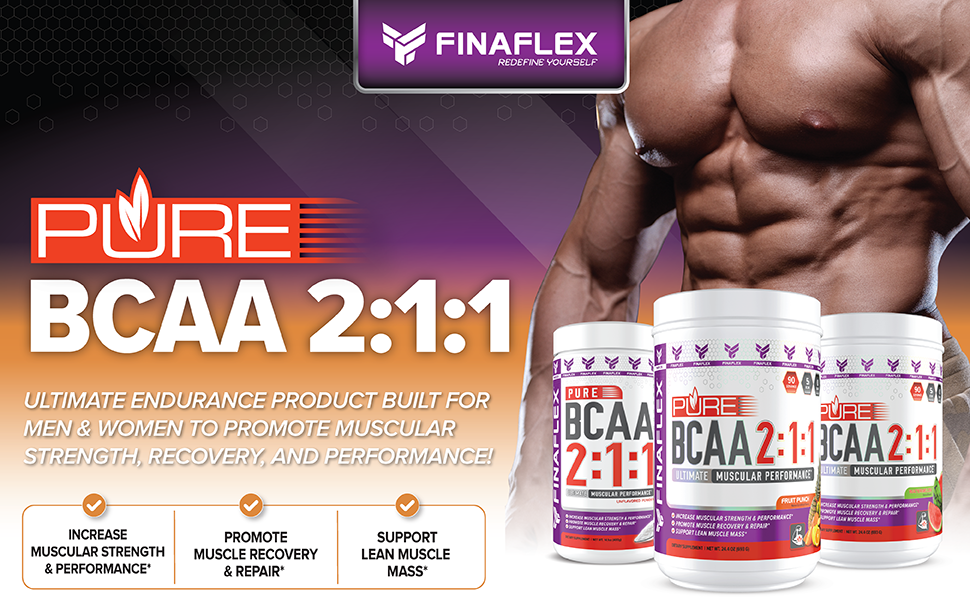 FINAFLEX Pure BCAA 2:1:1 - Ultimate muscular performance