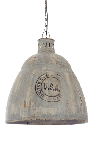 "Industrielampe ""USA"" Grey"