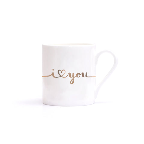 "Tasse ""I love you"" gold"