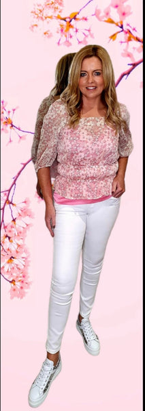 Cherry Blossom Pink Flower Blouse