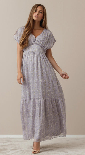 Asti Romantic Lilic Dress in Soft lilic tones