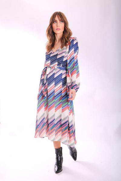 Carrie Long sleeve Dress Geometric Print
