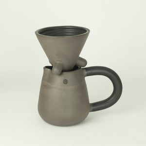 MAJ COFFEE SET / Off black