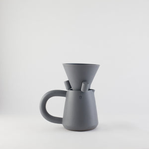 LOVE HANDLE pour over coffee set / deep grey