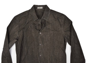Balenciaga Paris Waxed Shirt Size 39 - Charcoal