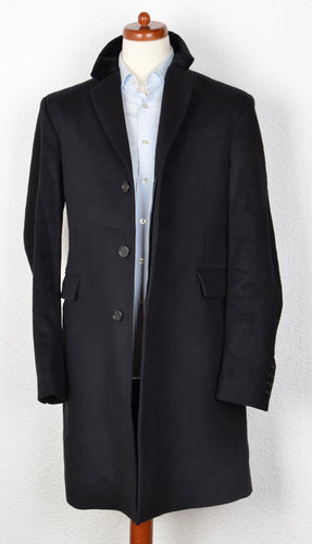 Burberry London Wool/Cashmere Chesterfield Coat Size 54 - Black
