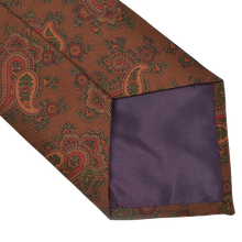 Load image into Gallery viewer, Ancient Madder English Silk Tie - Paisley