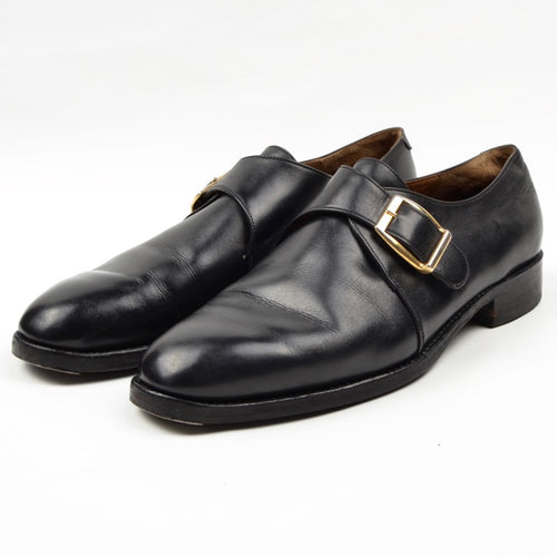 Barker Single Monk Shoes Size 8F - Black