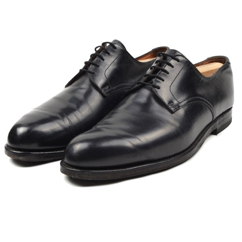 Alt Wien x Crockett & Jones Plain Toe Derby Shoes Size 9.5E - Black