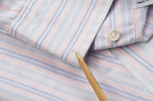 Barba Napoli Dress Shirt Size 41/16  - Pink/White/Blue Stripes