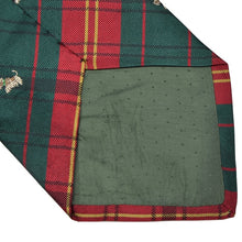 Load image into Gallery viewer, Plaid Silk Westie Tie - Red & Green