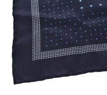 Load image into Gallery viewer, CCIA Vercelli Handrolled Silk Pocket Square - Navy